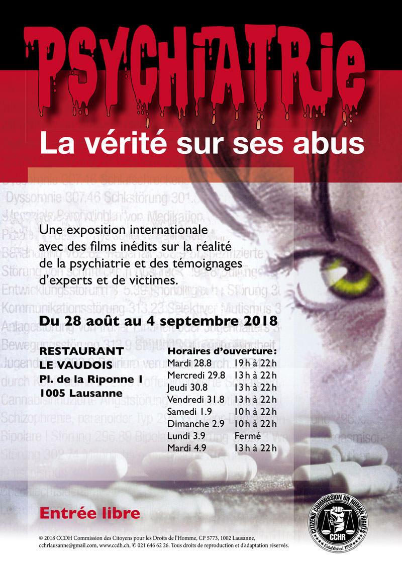 Exposition Psychiatrie – La vérité sur ses abus